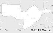 Silver Style Simple Map of Adaagya