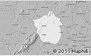 Gray 3D Map of Ahafo-Ano