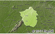 Physical 3D Map of Ahafo-Ano, darken