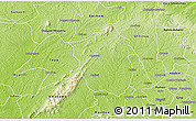 Physical 3D Map of Ahafo-Ano