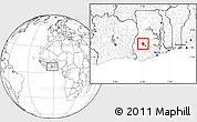 Blank Location Map of Ahafo-Ano