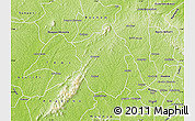 Physical Map of Ahafo-Ano