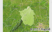 Physical Map of Ahafo-Ano, satellite outside