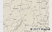 Shaded Relief Map of Ahafo-Ano