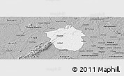 Gray Panoramic Map of Ahafo-Ano
