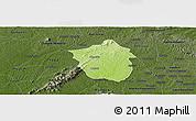 Physical Panoramic Map of Ahafo-Ano, darken