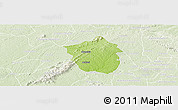 Physical Panoramic Map of Ahafo-Ano, lighten