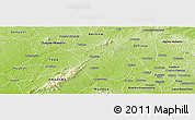 Physical Panoramic Map of Ahafo-Ano