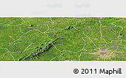 Satellite Panoramic Map of Ahafo-Ano