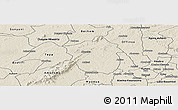 Shaded Relief Panoramic Map of Ahafo-Ano