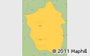 Savanna Style Simple Map of Ahafo-Ano