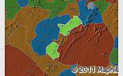 Political Map of Akrokerri Dompoase, darken