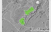 Political Map of Akrokerri Dompoase, desaturated