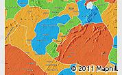 Political Map of Akrokerri Dompoase