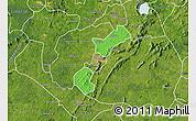 Political Map of Akrokerri Dompoase, satellite outside