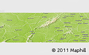 Physical Panoramic Map of Amanamo
