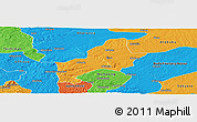 Political Panoramic Map of Ejura-Sekodumasi