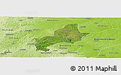 Satellite Panoramic Map of Ejura-Sekodumasi, physical outside