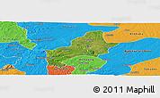 Satellite Panoramic Map of Ejura-Sekodumasi, political outside