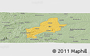 Savanna Style Panoramic Map of Ejura-Sekodumasi