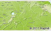 Physical 3D Map of Juaso-Bankaman