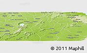 Physical Panoramic Map of Juaso-Bankaman