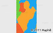 Political Simple Map of Juaso-Bankaman