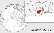 Blank Location Map of Ashanti