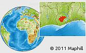 Physical Location Map of Ashanti