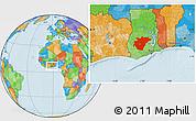 Political Location Map of Ashanti