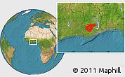Satellite Location Map of Ashanti