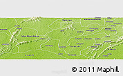 Physical Panoramic Map of Manso