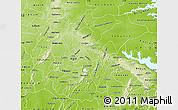 Physical Map of Ashanti