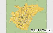 Savanna Style Map of Ashanti, single color outside