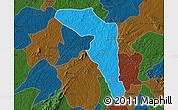 Political Map of Offinso, darken