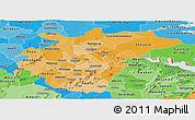 Political Shades Panoramic Map of Ashanti