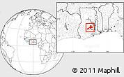 Blank Location Map of Sekyere