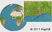 Satellite Location Map of Sekyere
