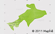 Physical Map of Sekyere, cropped outside