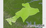 Physical Map of Sekyere, darken