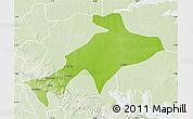 Physical Map of Sekyere, lighten