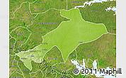 Physical Map of Sekyere, satellite outside