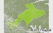 Physical Map of Sekyere, semi-desaturated