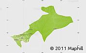 Physical Map of Sekyere, single color outside