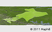 Physical Panoramic Map of Sekyere, darken