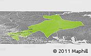 Physical Panoramic Map of Sekyere, desaturated