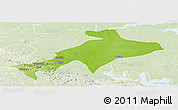 Physical Panoramic Map of Sekyere, lighten