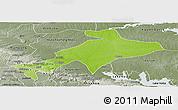 Physical Panoramic Map of Sekyere, semi-desaturated