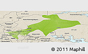 Physical Panoramic Map of Sekyere, shaded relief outside