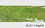 Satellite Panoramic Map of Sekyere